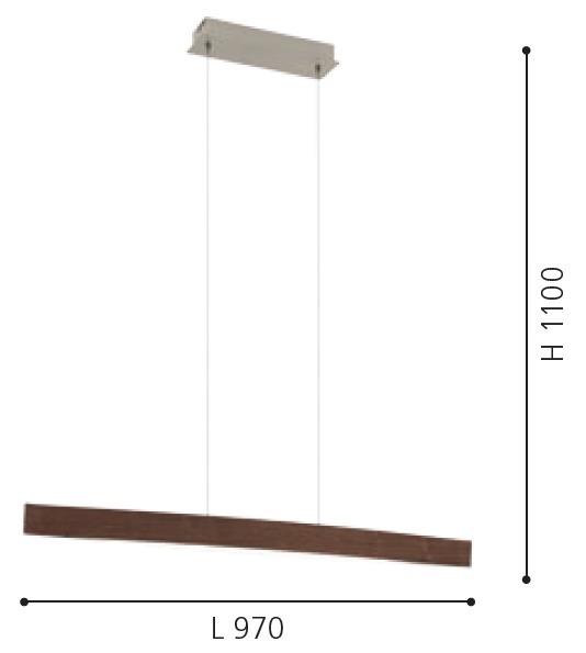 EGLO LED Pendelleuchte Fornes, Braun,weiß, Holz/Metall, 93343