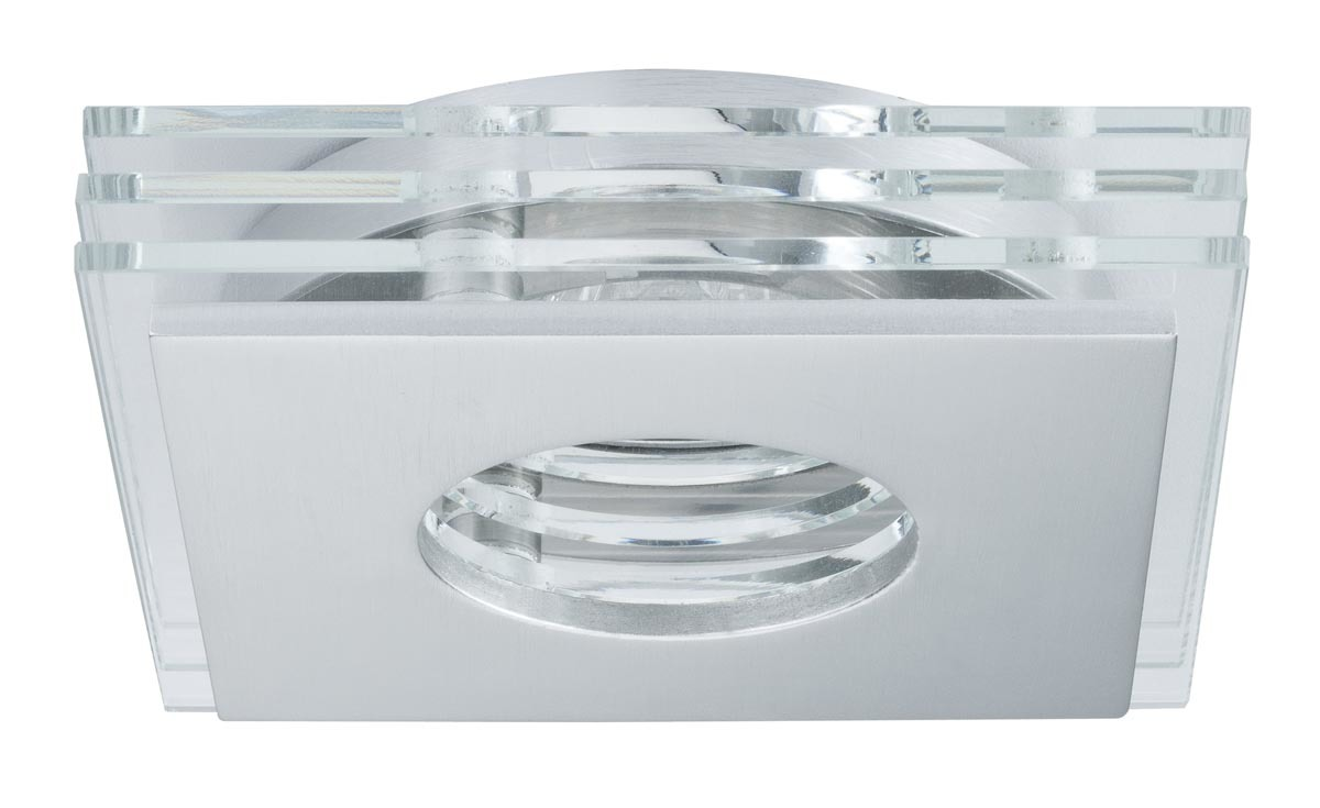 Paulmann Deckenleuchte CombiSystems Deco Einbauleuchte Layer Max.50W Alu Gebürstet/Glas, Metallisch,transparent, 937.20