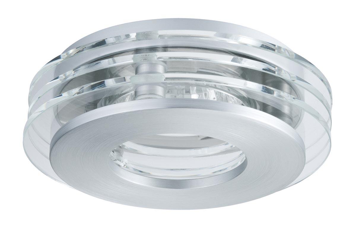 Paulmann Deckenleuchte CombiSystems Deco Einbauleuchte Shell Max.50W Alu Gebürstet/Glas, Metallisch,transparent, 937.21