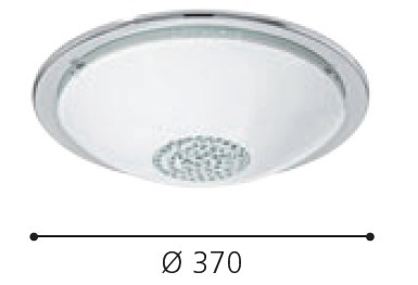 EGLO LED Deckenleuchte Giolina, Chrom,transparent,weiß, Glas/Metall/Stahl, 93778