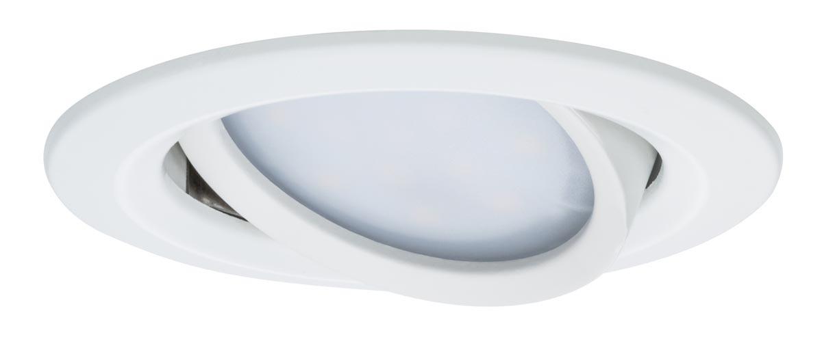 Paulmann LED Deckenleuchte Premium EBL Set Coin Slim Rund Schwenkb LED 1x6, Weiß, Aluminium, 938.63