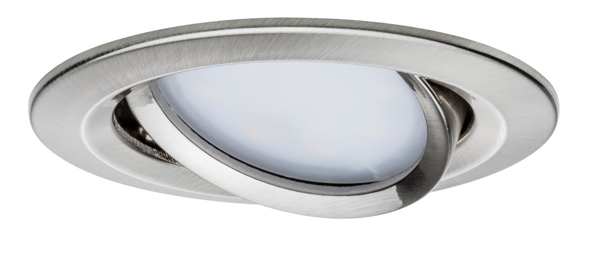 Paulmann LED Deckenleuchte Premium EBL Set Coin Slim Rund Schwenkb LED 1x6, Metallisch, Aluminium, 938.66