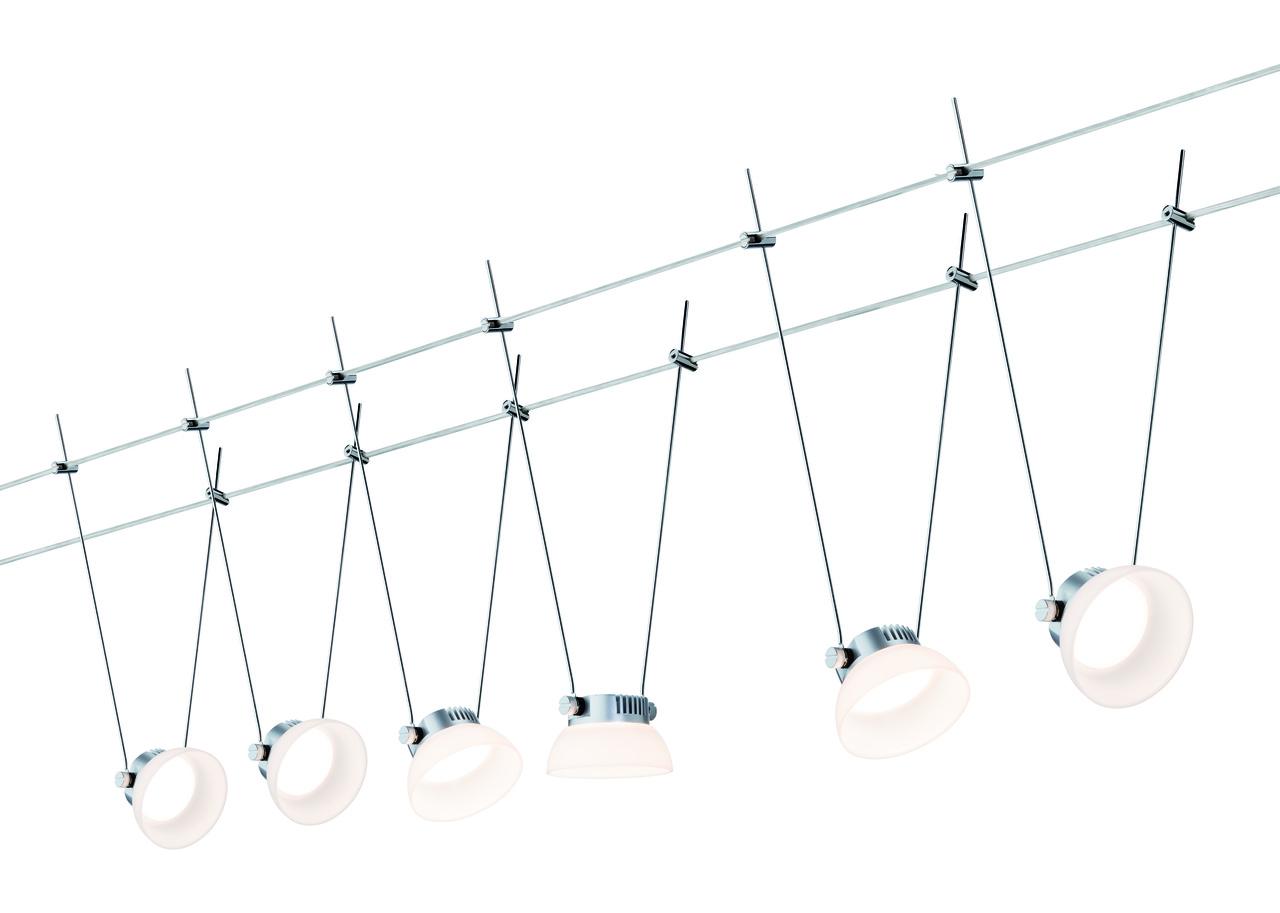 Paulmann LED Seilsystem Set IceLED I Für Wire Systems, Metallisch, Kunststoff/Metall, 941.13 | Lampen > Strahler und Systeme > Seilsysteme | Metallisch