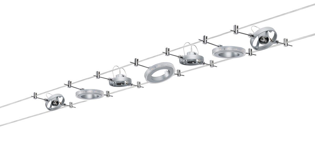 Paulmann Seilsystem WireSystem HaloLED, Chrom, Metall, 941.42   Lampen > Strahler und Systeme > Seilsysteme   Chrom   Metall