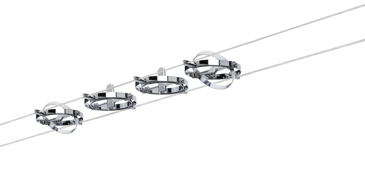 Paulmann Seilsystem WireSystem Cardan, Chrom, Metall, 941.44 | Lampen > Strahler und Systeme > Seilsysteme | Chrom | Metall