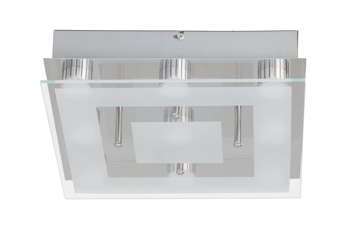 Brilliant LED Deckenleuchte Sao Paulo 9x3W LED DE Square, Glas/Metall, G94145/15