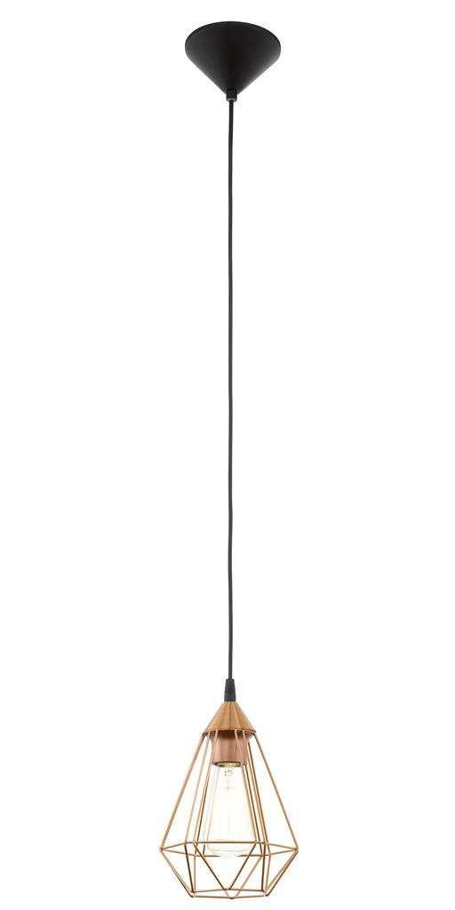 EGLO Pendelleuchte TARBES, Braun,metallisch,schwarz, Kunststoff/Metall, 94193