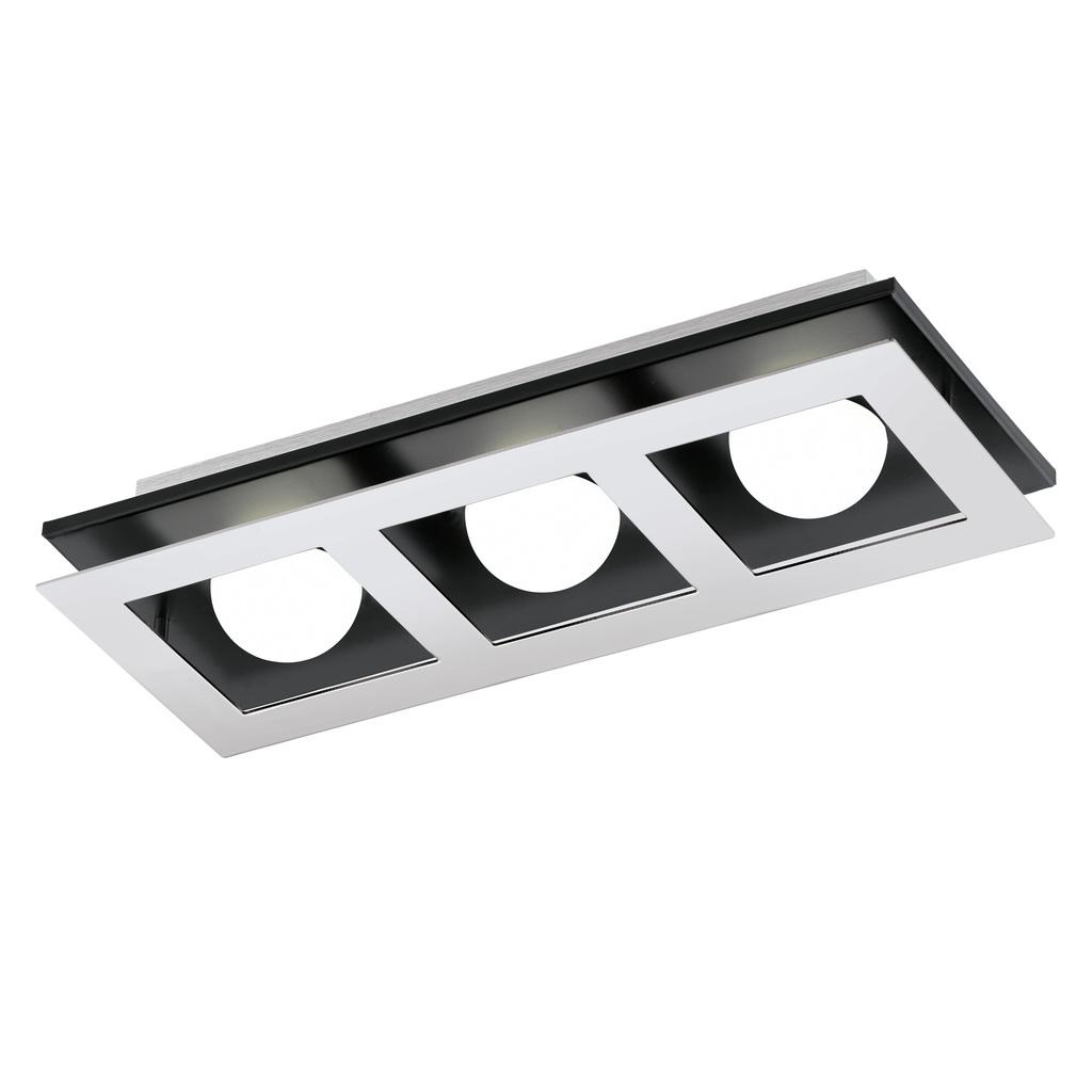 EGLO LED Deckenleuchte Bellamonte, Chrom,schwarz,weiß, Aluminium/Kunststoff/Metall, 94232