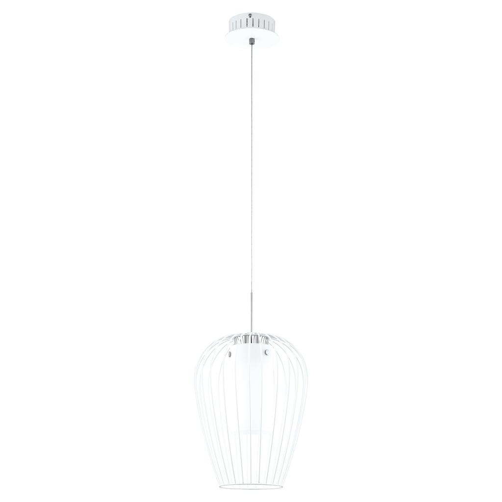 EGLO LED Pendelleuchte Vencino, Weiß, Glas/Metall, 94337