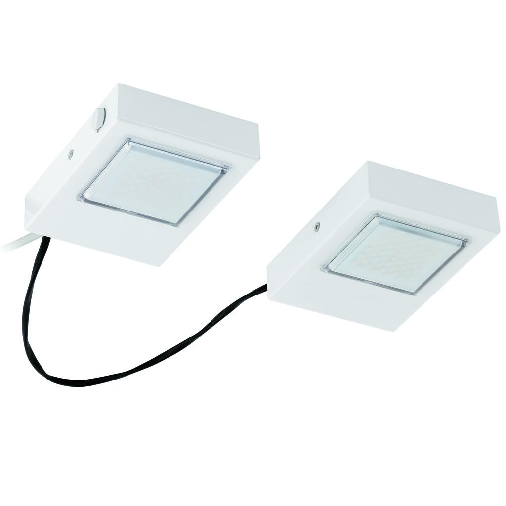 EGLO LED Unterschrankleuchte Lavaio, Weiß, Metall, 94517