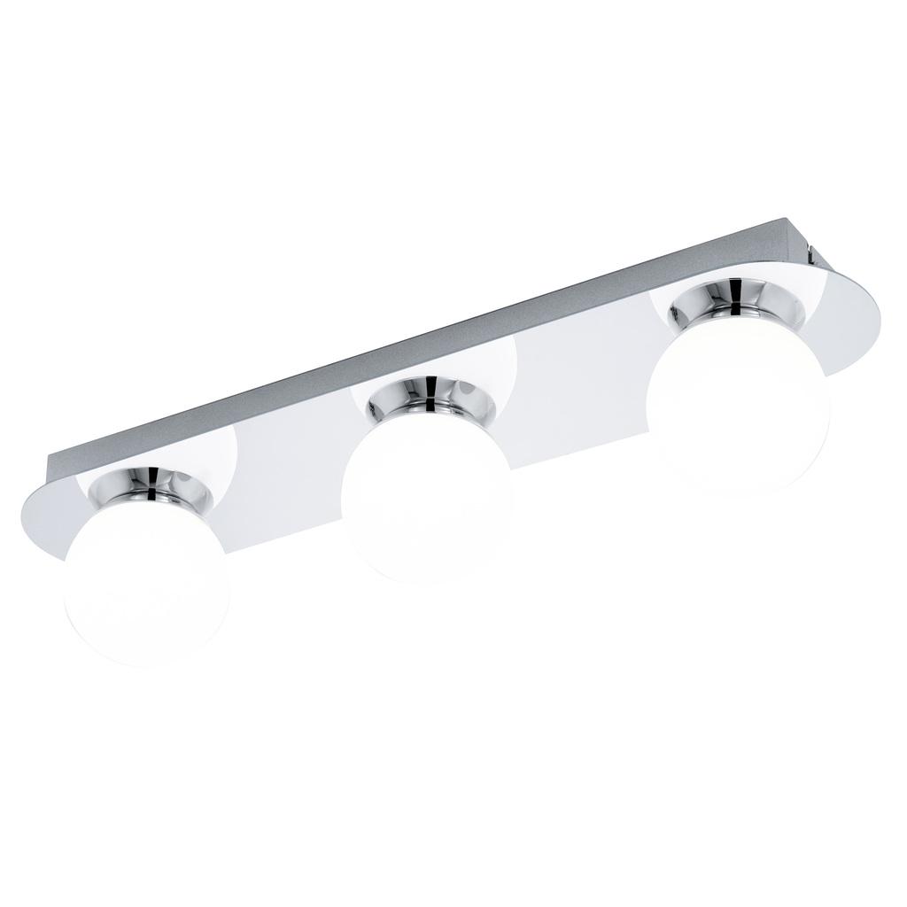 EGLO LED Deckenleuchte Mosiano, Chrom,weiß, Opalglas/Edelstahl/Glas, 94628