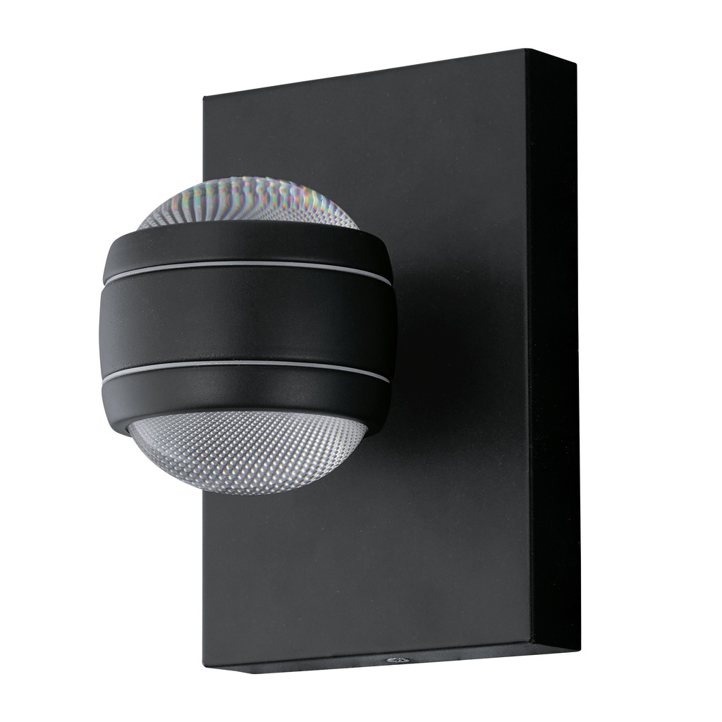 EGLO Außenwandleuchte AL-LED-WL/2 SCHWARZ ´SESIMBA´, Schwarz, 94848