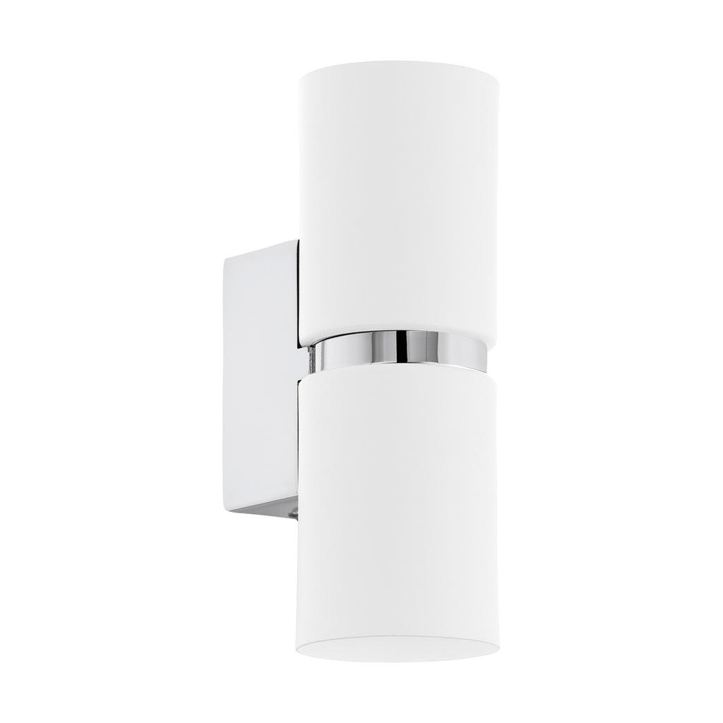 EGLO LED Spiegelleuchte Passa, Chrom/weiß, Stahl, 95368