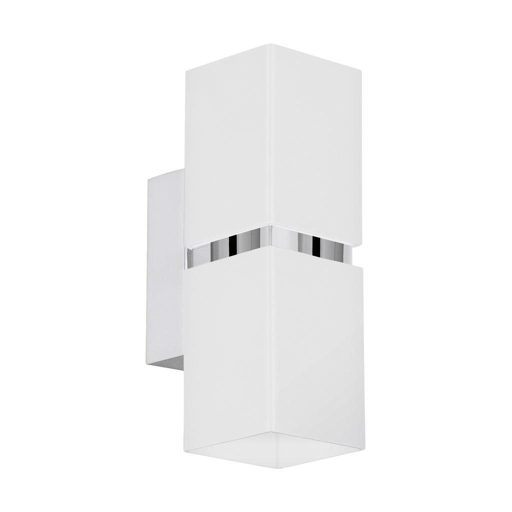 EGLO LED Spiegelleuchte Passa, Chrom/weiß, Stahl, 95377