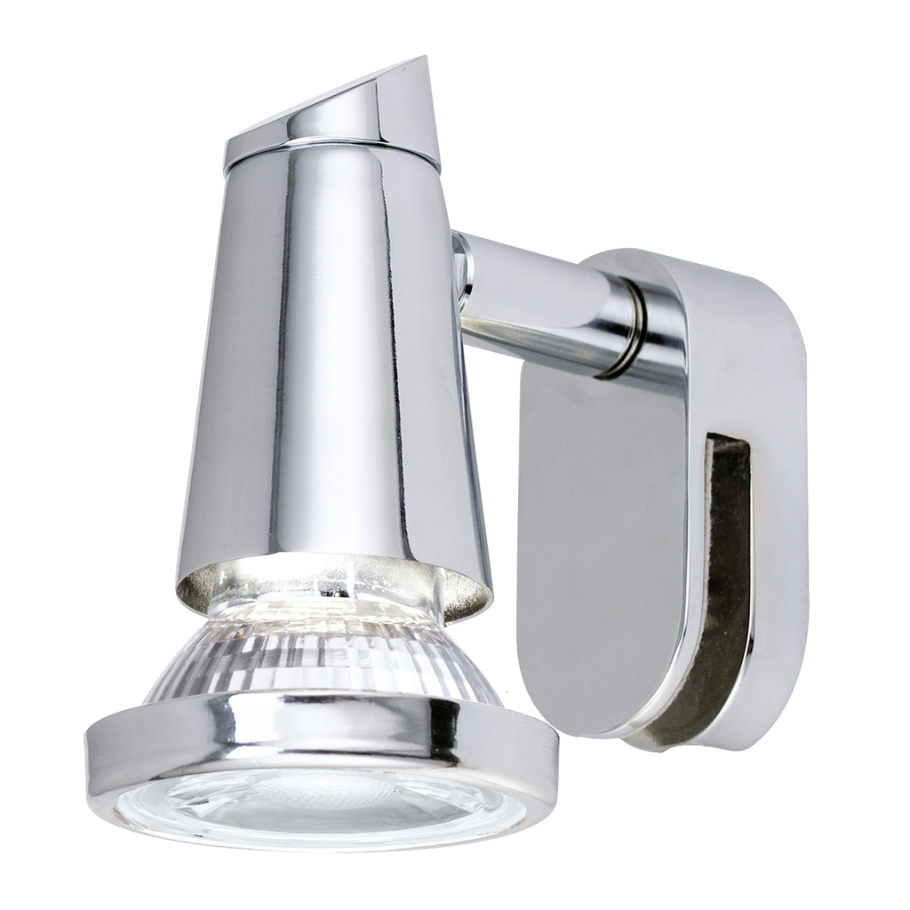 EGLO LED Spiegelleuchte Sticker LED, Chrom, 95832