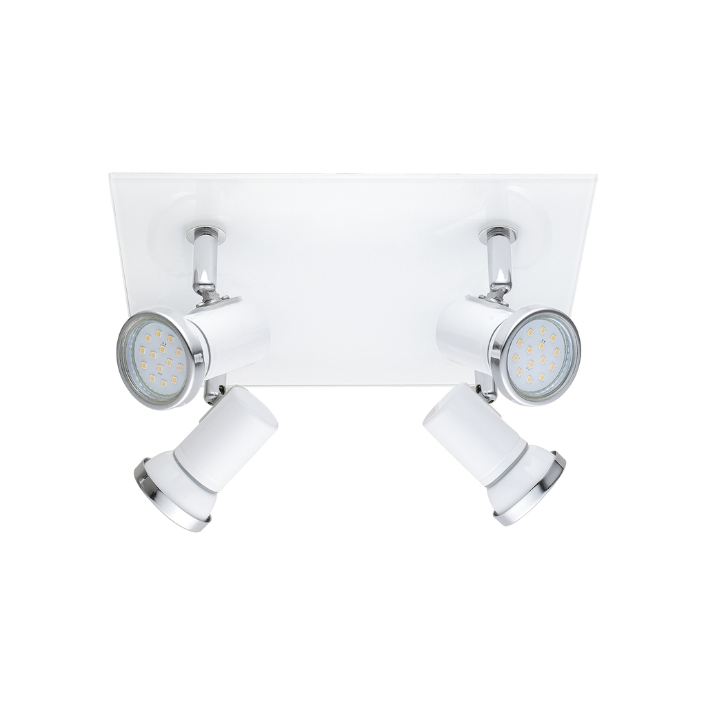 EGLO LED Halogenstrahler Tamara 1, Weiß, Glas/Stahl, 95995 | Lampen > Leuchtmittel > Halogenstrahler | Weiß