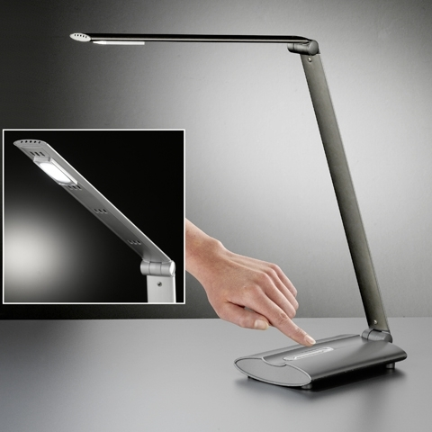 Honsel LED Schreibtischleuchte Signe, Grau,schwarz, Metall, 97021
