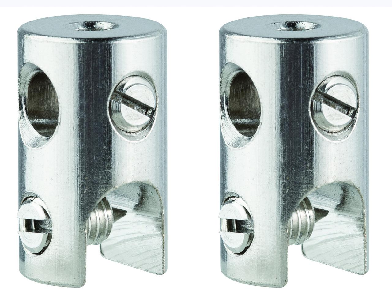 Paulmann Seilsystem WS L&E Seilklotz Seilsysteme 2er Pack Max150W/Stange Max300W C, Chrom, Metall, 978.019