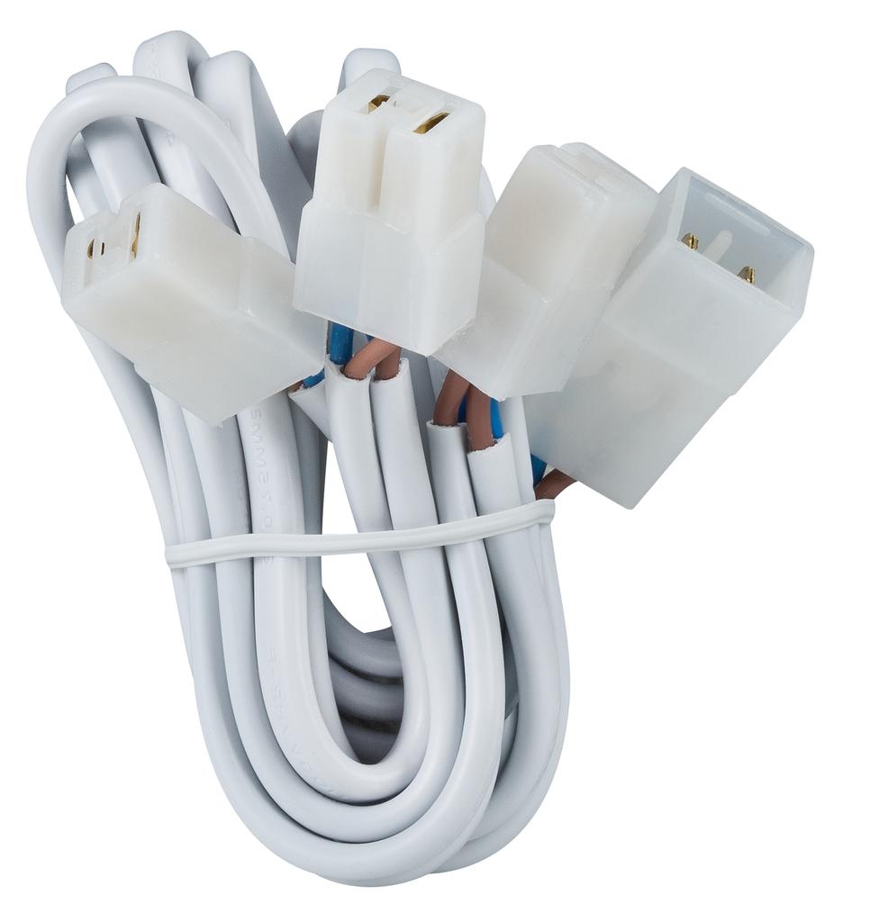 Paulmann Kabel Kabelsätze Mit Steckverbinder Für 3 Leuchten 3x35W Weiß 12V, Weiß, 979.73