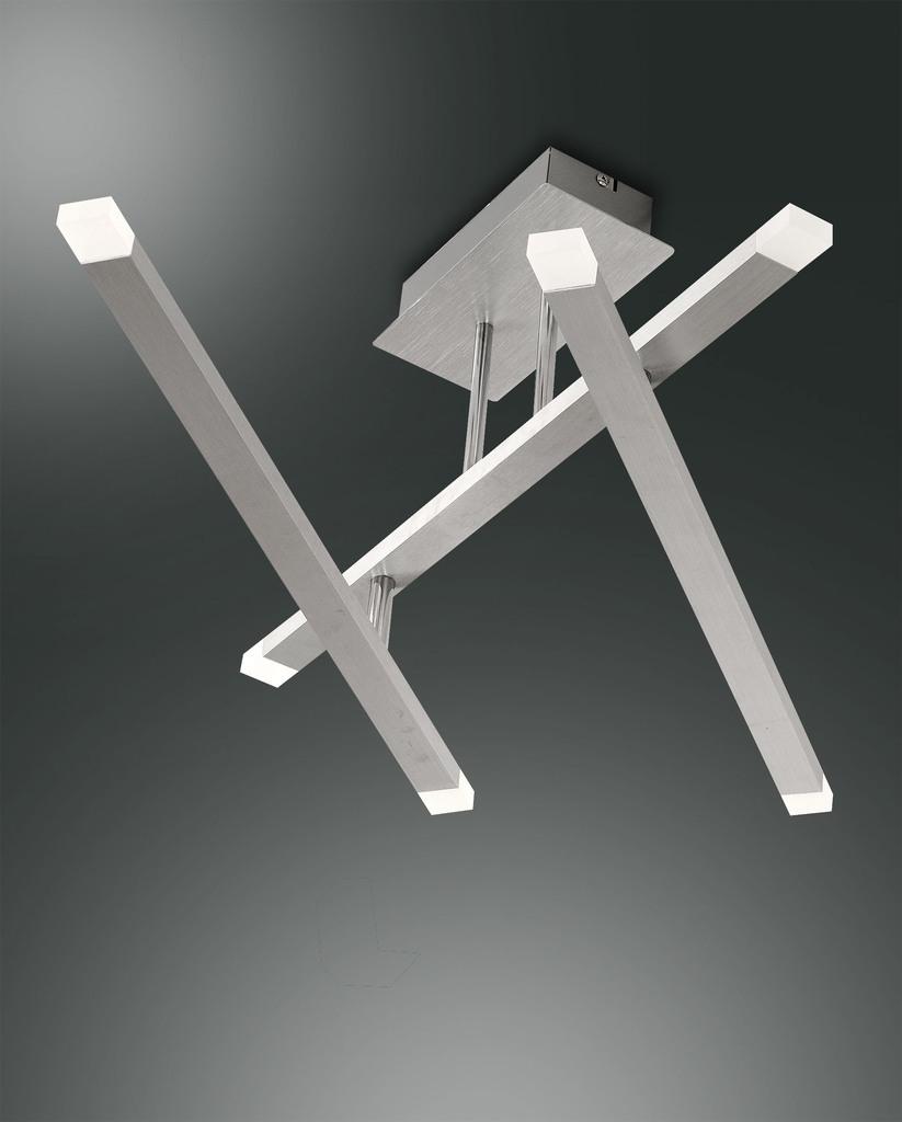 Fabas Luce LED Deckenleuchte Mika Spot, Grau, 3...