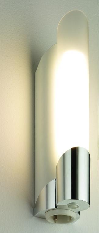 RIDIhomelight Bad- Und Spiegelleuchte PIPE S11 11W WEISS M.STECKDOSE, 1411.1-2 | Baumarkt > Elektroinstallation > Steckdosen | Weiss