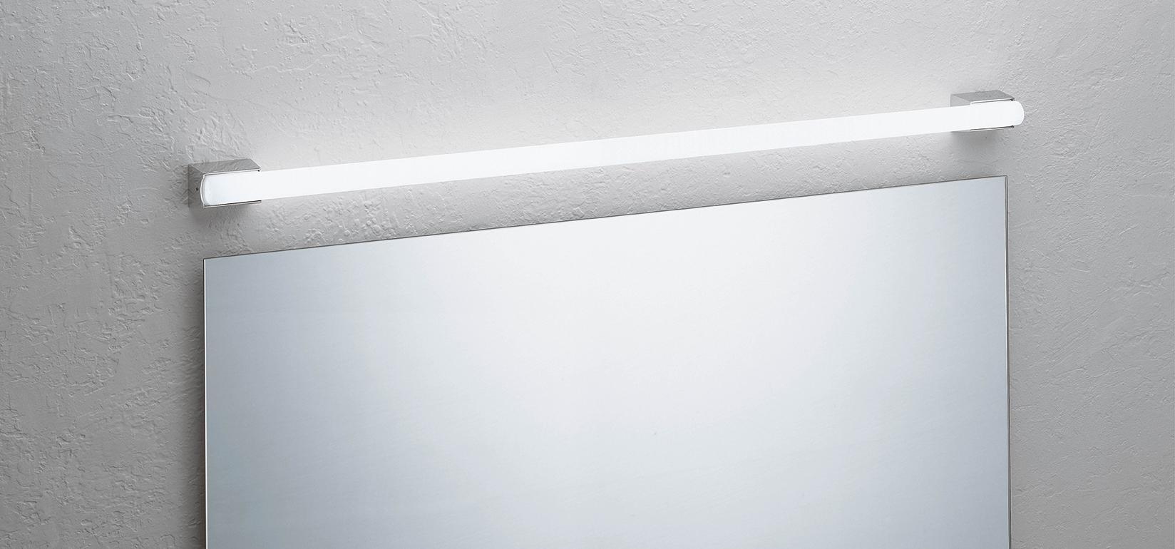 Vibia Spiegelleuchte Linestra, Chrom, Aluminium, 803001
