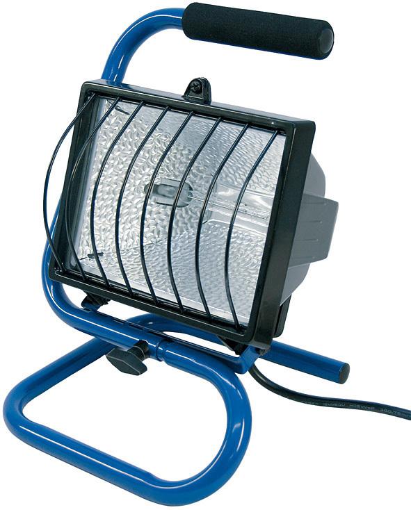 Brennenstuhl Außenstrahler Mobiler Halogenstrahler 400W 1, Blau,schwarz, 1178610