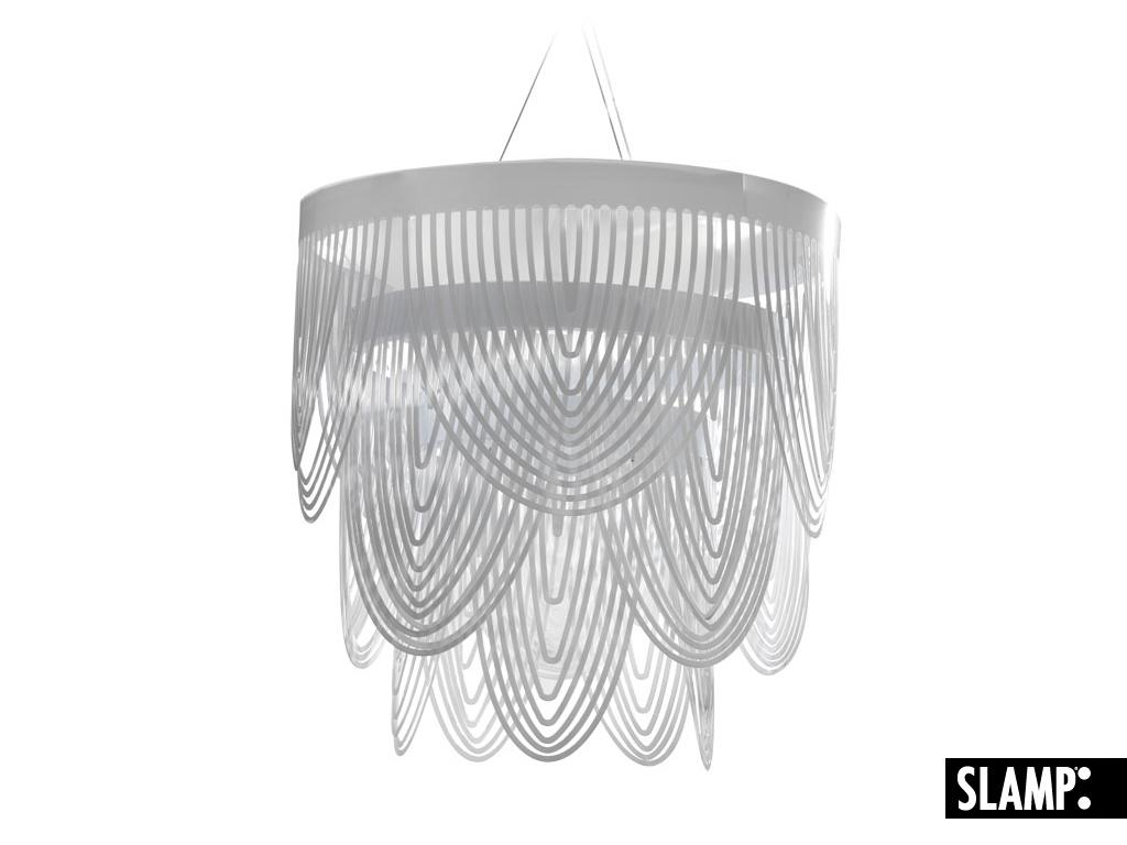 SLAMP Kronleuchter Ceremony S, Transparent, Kunststoff, CER79SOS0002LE000 | Lampen > Deckenleuchten > Kronleuchter | Transparent | Kunststoff