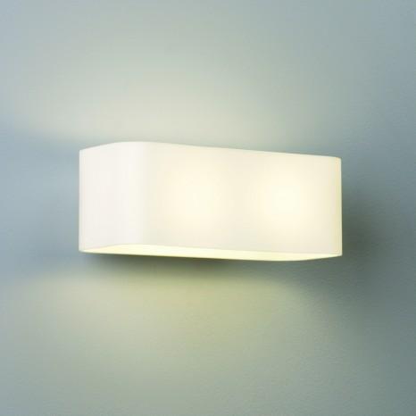 Obround, 2-flammig, Weiß