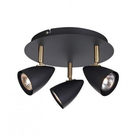 Markslöjd CIRO Ceiling 3L Black/Brass