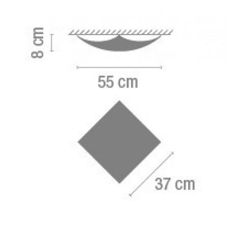 Quadra Ice 1129, 37 x 37 x 8 cm, Halogen