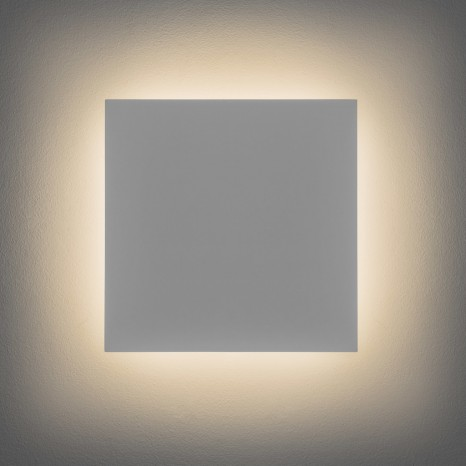 Eclipse Square 300, Gips weiß, 1 x 13W LED, Ausf