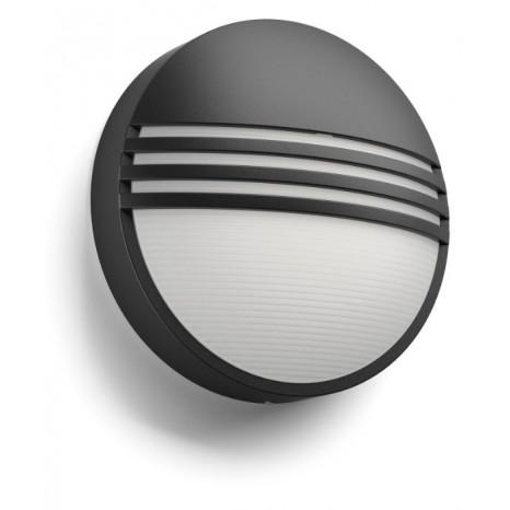 Yarrow, LED, IP44, schwarz