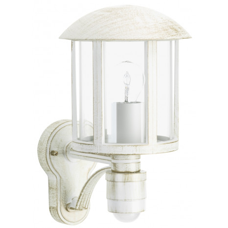 Brostu mit Bewegungsmelder Höhe 35 cm weiß 1-flammig zylinderförmig