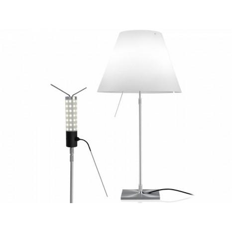 Costanza LED (ohne Schirm), Table 76-110 cm, Alu, Schalter
