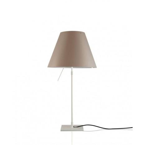 Costanza Table Off White (ohne Schirm), 80 cm, Schalter