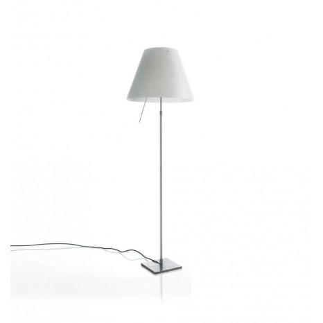 Costanza Floor Alu (Komplett) inkl. Hue, 120-160 cm, Schirm Weiß, mit Schalter