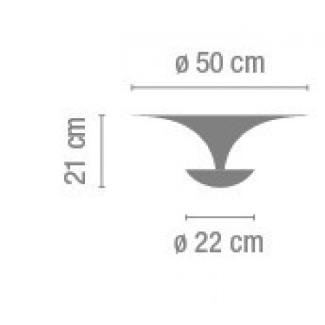 Funnel 2007, Ø 50 cm, DL, 3 x R7s, weiß