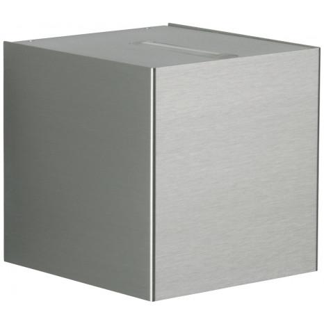 Nr. 2413 Edelstahl, Lichtaustritt eng/breit, 2 x LED 6,7 W, je 600 lm, 3000 K