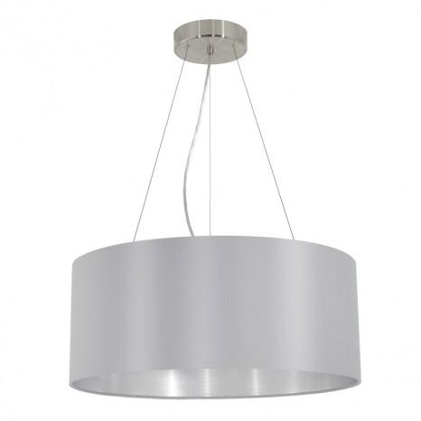Maserlo, Ø 53 cm, Grau-Silber