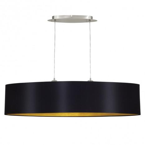 Maserlo, Länge 100 cm, schwarz-gold