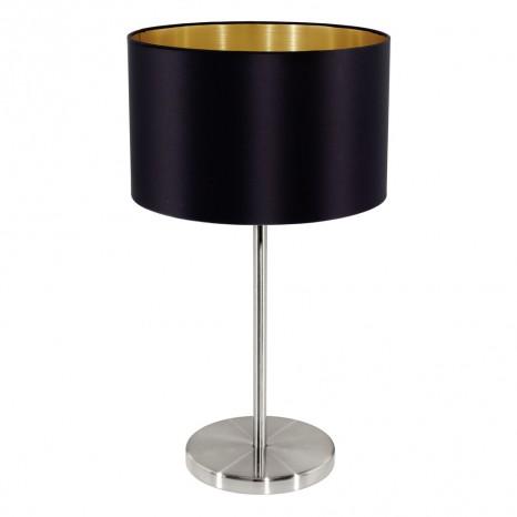 Maserlo, TL Ø 23 cm, H 42 cm, schwarz-gold