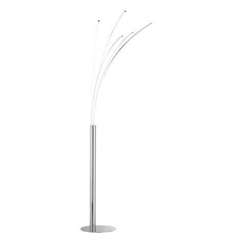Linee, LED, 5-flammig, Höhe 186 cm, Chrom