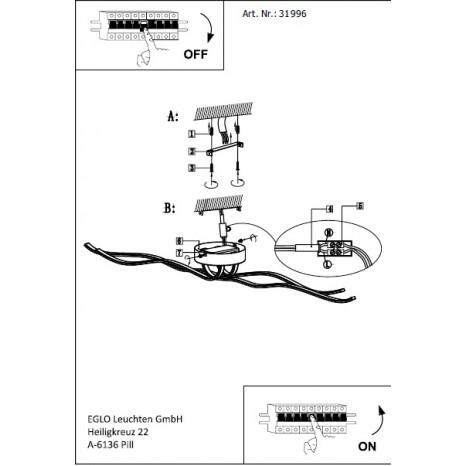 Roncade, Länge 116 cm, inkl LED