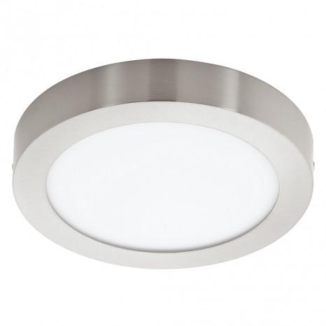 Fueva 1, LED, IP20, Ø 22,5 cm, nickel-matt