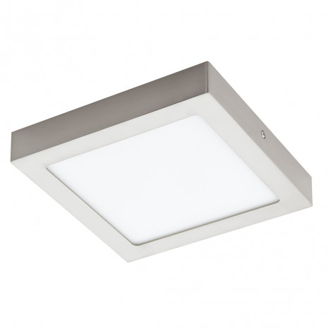 Fueva 1, LED, IP20, 22,5 x 22,5 cm, nickel-matt