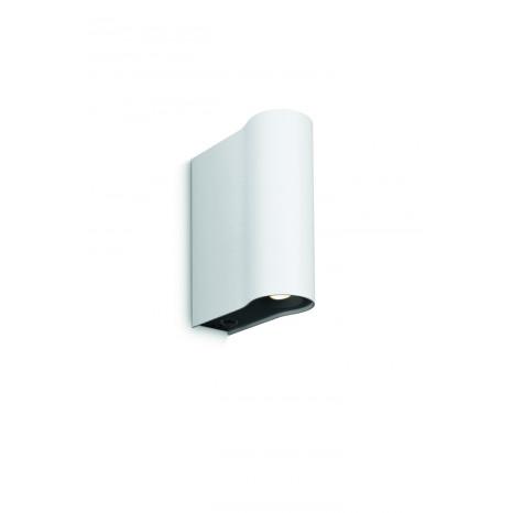 Pytha Höhe 14,6 cm weiß 2-flammig halbrund