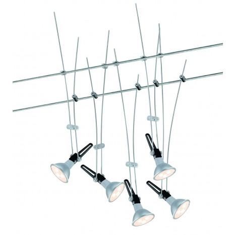 Nice Price Wire System LED 5x4W GU5,3 Chrom 230/1