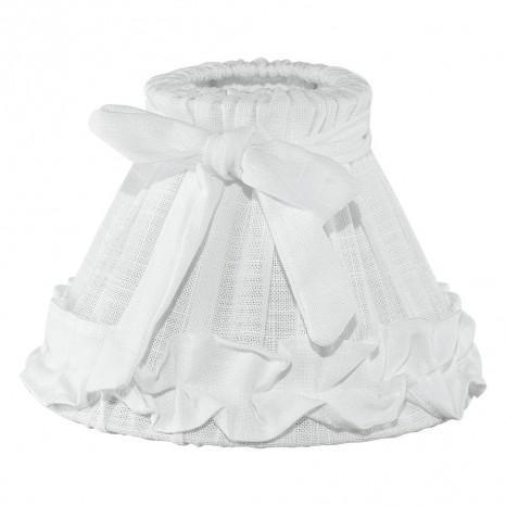1+1 Vintage, Leinen Ø 20,5 cm, E14, weiß