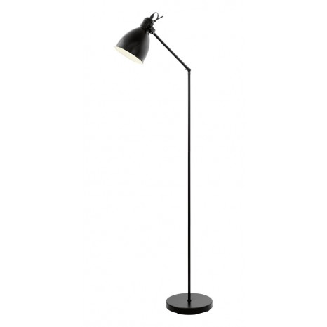 Priddy, 1-flammig, Höhe 137 cm, Schwarz/ Weiß